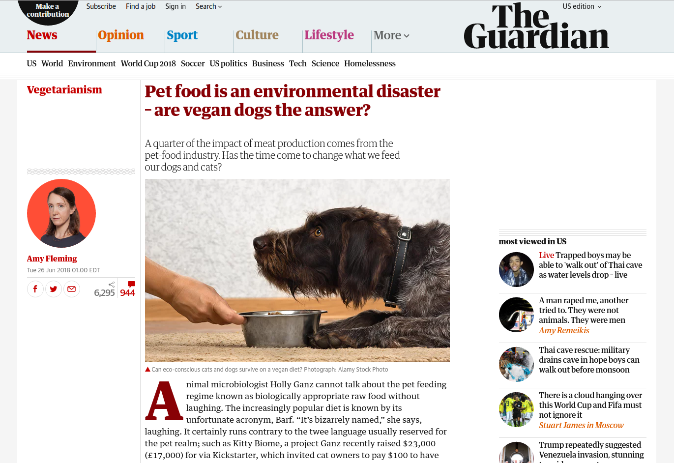 Pet food is an environmental disaster – are vegan dogs the answer?